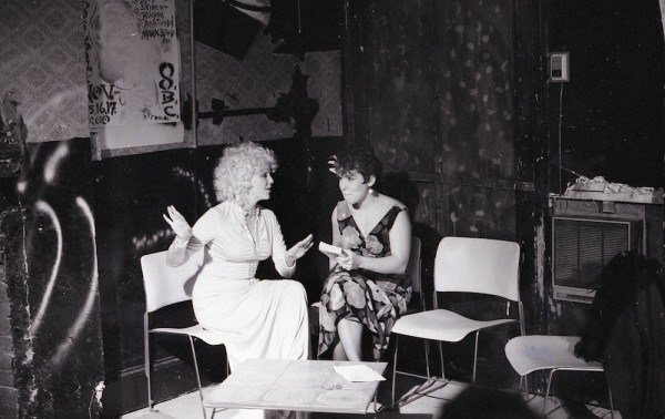 Carmelita Tropicana and Lois Weaver, 1986, image courtesy of Lois Weaver